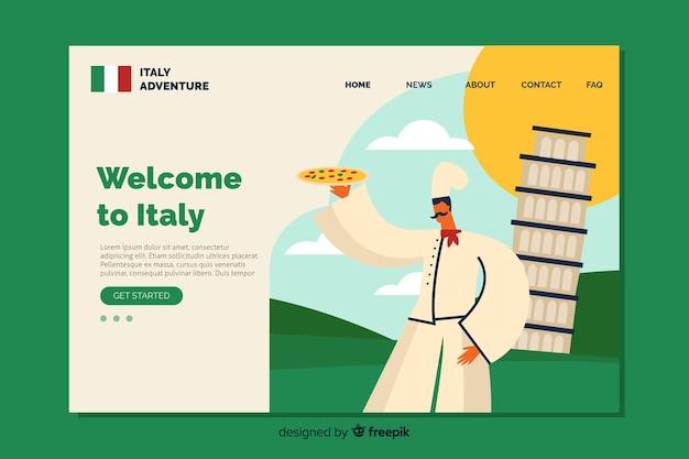 Willkommen in italien landing page template