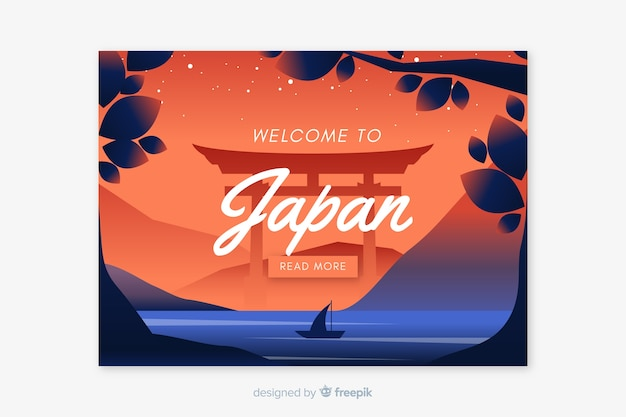 Willkommen in japan landing page template