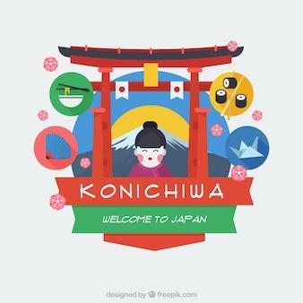 Willkommen in japan schön backgorund