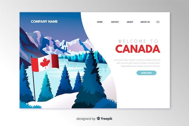 Willkommen in kanada landingpage-vorlage