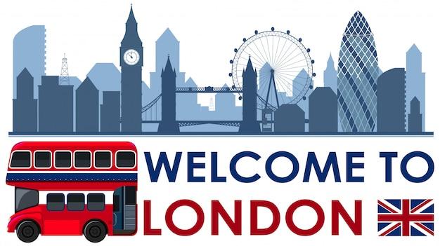 Willkommen in london england landschaft