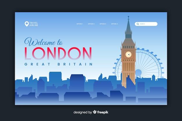 Willkommen in london landing page-vorlage