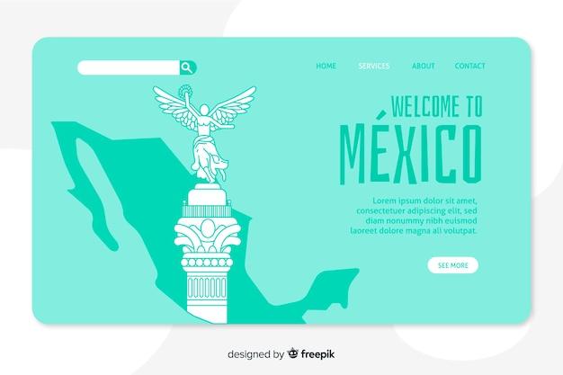 Willkommen in mexiko landing page vorlage
