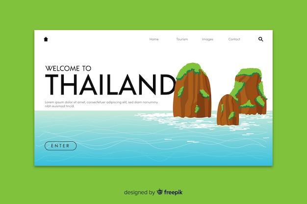 Willkommen in thailand landing page vorlage