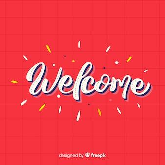 Willkommen schriftzug design