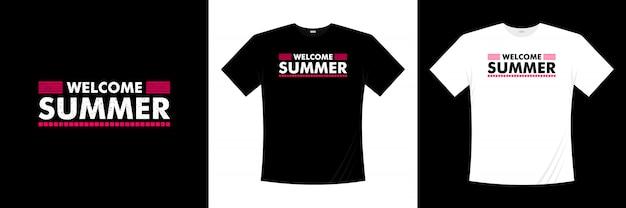 Willkommen sommer typografie t-shirt design