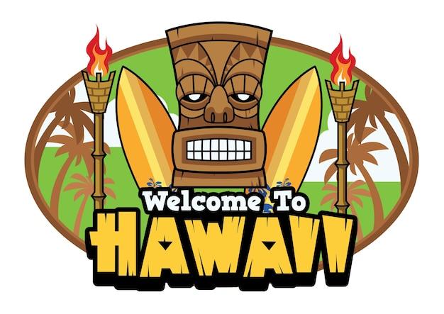 Willkommen zu hawaii tiki grüße