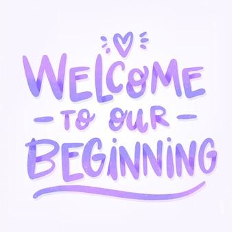 Willkommen zu unserem hochzeitsbeginn