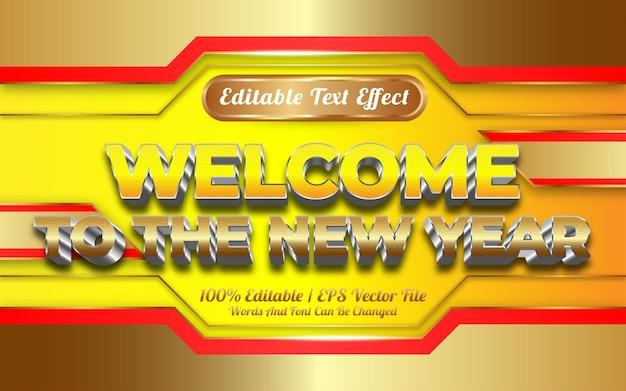 Willkommen zum neujahrstexteffekt