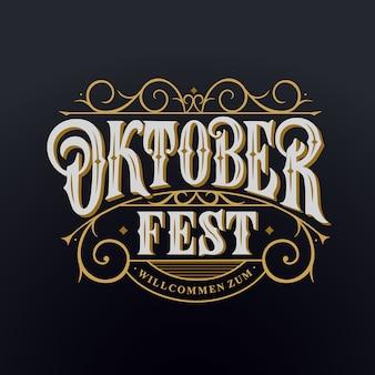 Willkommen zum oktoberfest-schriftzug