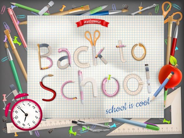 Willkommen zurück in der schule. datei enthalten