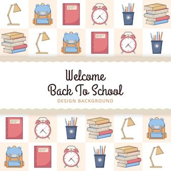 Willkommen zurück in der schule mit elementen