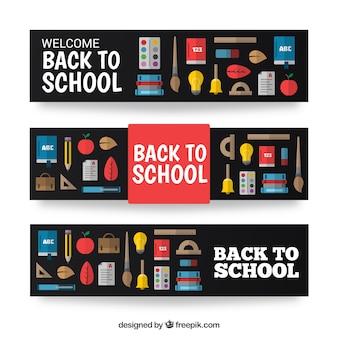 Willkommen zurück in die schule banner