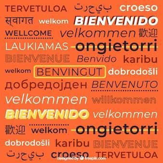 Willkommen zusammensetzung hintergrund in verschiedenen sprachen