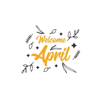 Willkommene april-illustration
