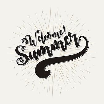 Willkommene sommervektorillustration