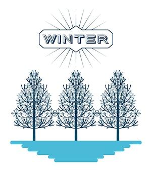 Willkommenes Winterdesign, Grafik der Vektorillustration eps10