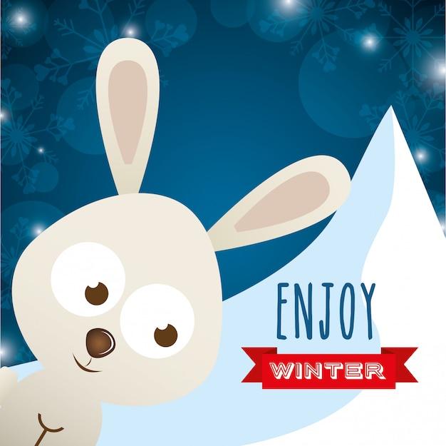 Willkommenes winterdesign