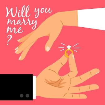 Willst du mich heiraten karte