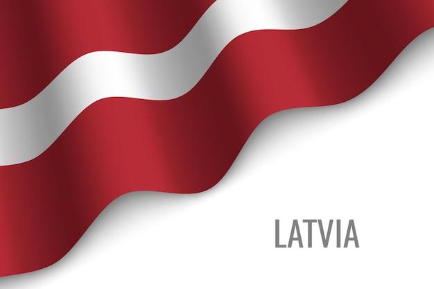 Windende flagge von lettland