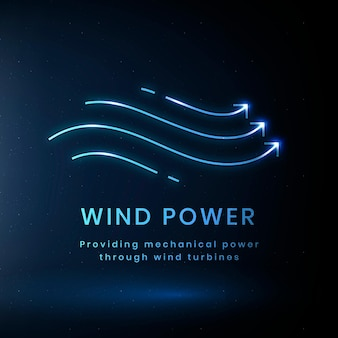 Windkraft-umweltlogovektor mit text