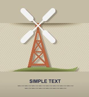 Windkraftanlage symbol vektor