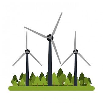 Windkraftanlagen auf die natur