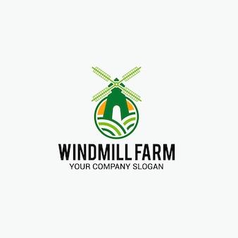 Windmühle bauernhof logo