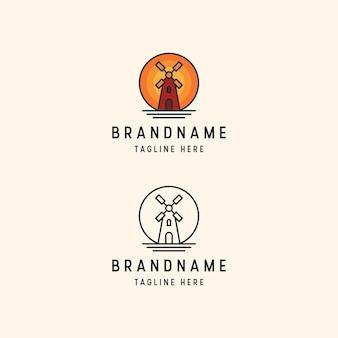 Windmühle logo vorlage