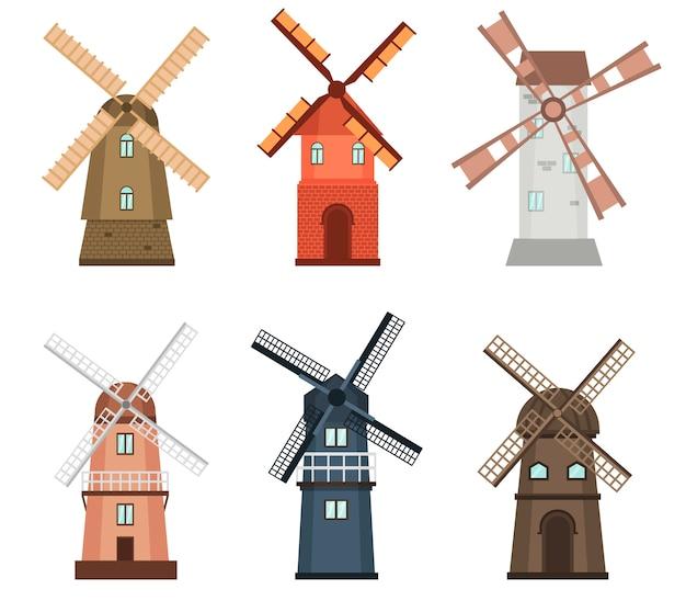 Windmühlen-bauernhofwirtschaftsökologie der windmühle ländliche