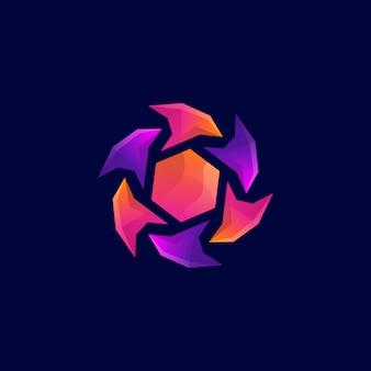 Windmühlen-logo-design-vorlage