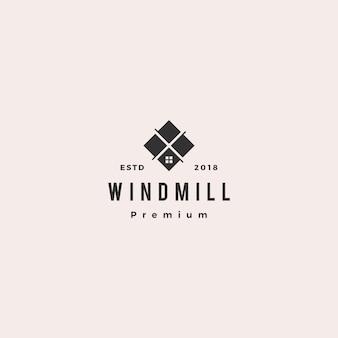 Windmühlenfliesengranit und marmor countertoplogo-vektorikone