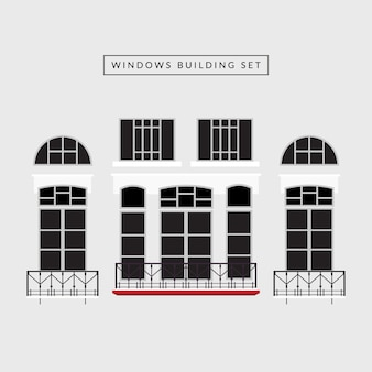 Windows-gebäude-set