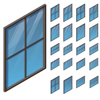 Windows in der isometrischen ansicht