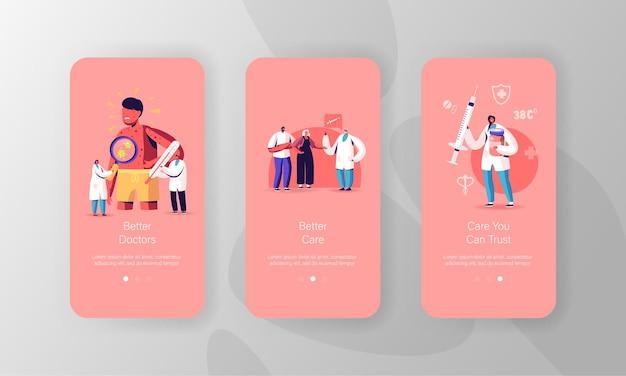 Windpocken mobile app seite bildschirmvorlagen.