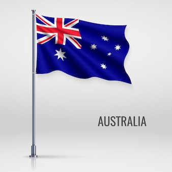 Winkende flagge am fahnenmast