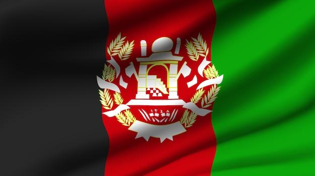 Winkende flagge der afghanistan. winken afghanistan abstrakten hintergrund der flagge