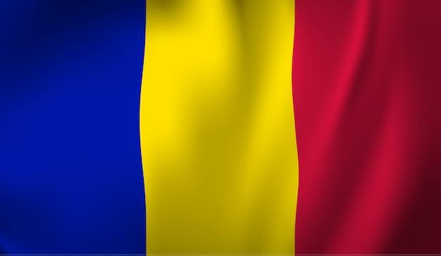 Winkende flagge der andorra. winkender abstrakter hintergrund der andorra-flagge