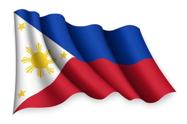 Winkende flagge der philippinen