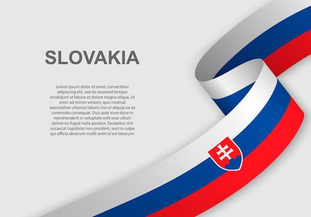 Winkende flagge der slowakei.
