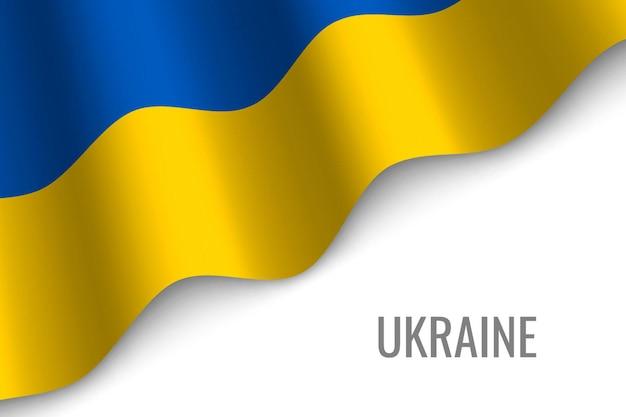 Winkende flagge der ukraine