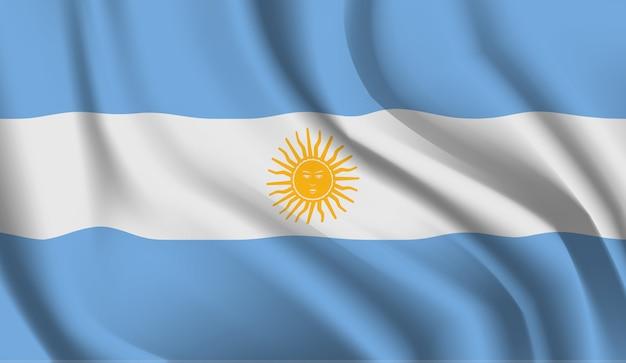 Winkende flagge des argentiniens. abstrakter hintergrund der wehenden argentinienflagge