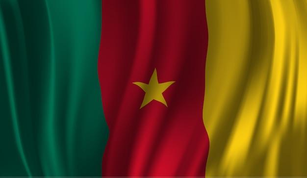 Winkende flagge kameruns. kamerun flagge winken