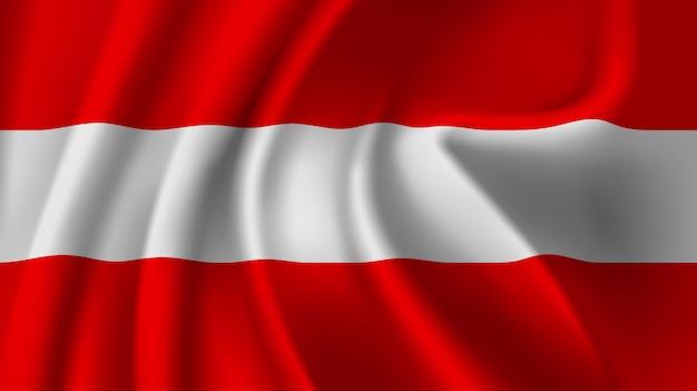 Winkende flagge österreichs. abstrakter hintergrund der wehenden österreich-flagge