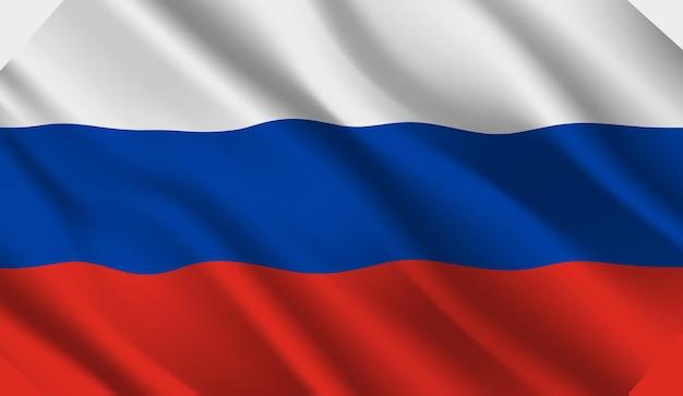 Winkende flagge russlands. abstrakter hintergrund der wehenden russlandflagge