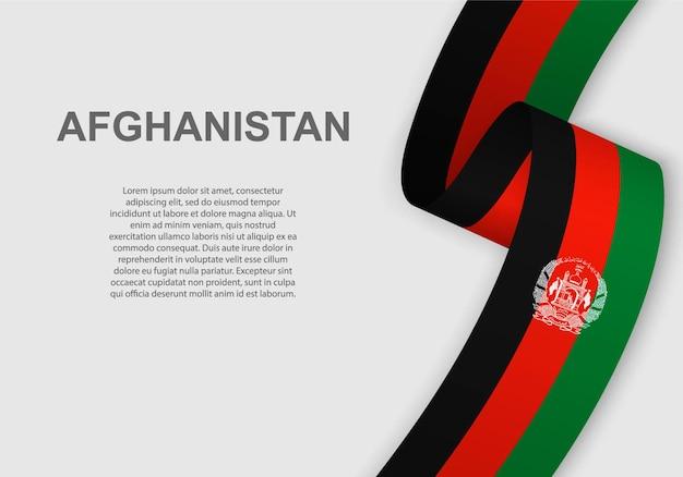 Winkende flagge von afghanistan.