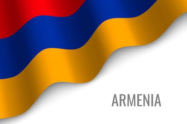 Winkende flagge von armenien