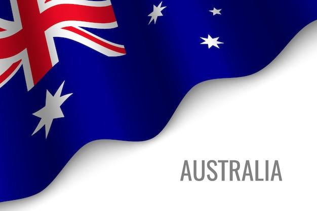 Winkende flagge von australien