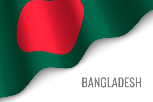 Winkende flagge von bangladesch.