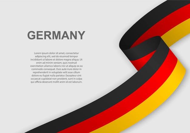 Winkende flagge von deutschland.